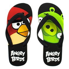 Angry Birds Flip Flops Thong Sandals Beach Pool Slippers Black ** Learn more by visiting the image link.