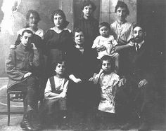 Portrait of a Jewish family. Pinsk, Poland, ca. 1922. All murdered by nazis