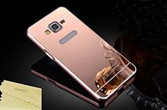 Samsung Galaxy Grand Prime Case,DAMONDY Luxury Metal Air Aluminum Bumper Detachable + Mirror Hard Back Case 2 in 1 cover Ultra-Thin Frame Case For Samsung Galaxy Grand Prime G5308 G530H(Rose)