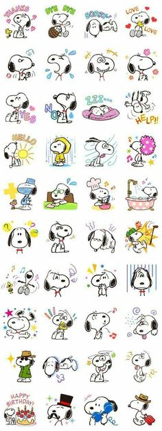 Snoopy, the dog with a thousand faces, is here to laugh, cry, smile and … – funny wallpapers Snoopy Love, Snoopy The Dog, Charlie Brown And Snoopy, Snoopy And Woodstock, Snoopy Wallpaper, Face Lines, Smileys, Line Sticker, Peanuts Snoopy