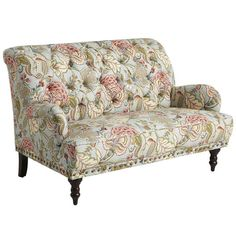 Chas Blue Floral Loveseat