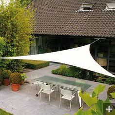 think I need for my house; Ingenua Triangular Shade Sail System