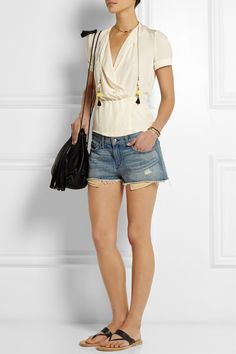 ISABEL MARANT Gold-plated, howlite and tassel wrap necklace  €180.00 http://www.net-a-porter.com/products/512452