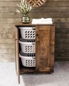 "Lovemade14 on Instagram: ""This stand up hamper moves me♥️ It's sooo beautiful! Hide your laundry in a gorgeous upright hamper. It includes 3 hip hugger baskets🧺.…"""