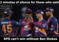 #IPL #IPL2017 #MIvRPS #RPSvMI  Rising Pune Supergiant's reply to its haters  For more cricket fun click: http://ift.tt/2gY9BIZ - http://ift.tt/1ZZ3e4d