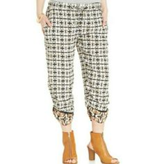American Rag Printed Cropped Soft Pants These soft pants with front pockets are as comfy as pajama bottoms but stylish enough to wear out on the town! Perfect for the spring and summer!   Material: 100% rayon. American Rag Pants Ankle & Cropped
