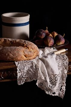 Simple still life with fresh fruit and bread. Painting Still Life, Still Life Art, Still Life Photography, Food Photography, Rustic Photography, Street Photography, Landscape Photography, Portrait Photography, Fashion Photography
