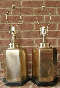 vintage brass lamps