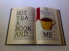 Hot Tea Me Book Art by MaplewoodBookArt on Etsy
