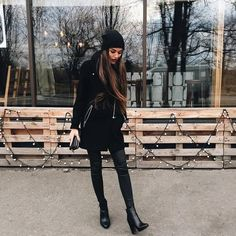 black, boots, clothes, clothing, fashion, girly, outfit, winter