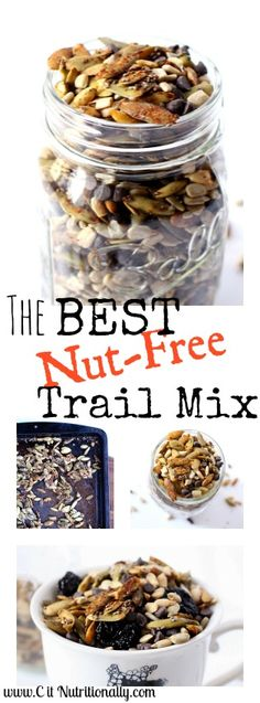 The Best Nut-Free Trail Mix | Gluten Free, Nut Free, Peanut Free, Egg Free, Dairy Free | C it Nutritionally