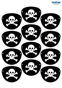 Create, customize and print custom party decorations. Leverage Brother Creative Center's party decorations templates for Pirates Eye Patch. Pirate Party Games, Pirate Activities, Birthday Activities, Kids Party Games, Birthday Games, Birthday Parties, Pirate Day, Pirate Birthday, Pirate Theme