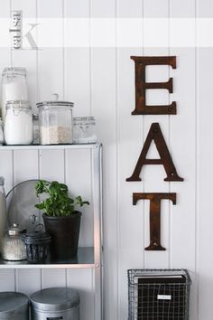 Inspired Design: Decorating with letters.....