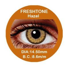 Impression contact lenses are made with intricate patterns that provide a natural and charming look to your eyes. Fresh Tone Impressions Hazel contact lenses use a light brown pattern that is surrounded by a deeper colored rim for contrast and beauty.