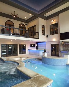 Stock Tank Swimming Pool Ideas, Get Swimming pool designs featuring new swimming pool ideas like glass wall swimming pools, infinity swimming pools, indoor pools and Mid Century Modern Pools. Find and save ideas about Swimming pool designs. Luxury Swimming Pools, Luxury Pools, Indoor Swimming Pools, Dream Pools, Swimming Pool Designs, Small Indoor Pool, Indoor Jacuzzi, Lap Swimming, Inside Pool