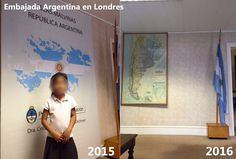 Una ciudadana fue a tramitar su DNI a la Embajada argentina en Londres y descubrió que quitaron el mapa de Malvinas