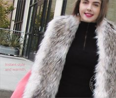 Add some style with this Luxury Faux Fur Collar!  Sewing Tutorial created for Fabric Depot @fabricdepot -  by @sew4home Sew4Home | Transform Your Space. Features our Island Raccoon Faux Fur http://www.shannonfabrics.com/faux-fur/specialty/island-raccoon-fur-charcoal-beige