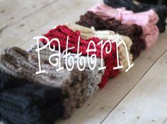 Boot Cuffs Knitting Pattern.