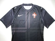Portugal third player issue football shirt by Nike National Football Teams, Football Shirts, Third, Soccer, Mens Tops, Black, Football Jerseys, Football, Futbol