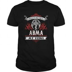 Cool  ABMA  Blood Runs Through My Veins (Dragon) - Last Name, Sub Name Shirts & Tees #tee #tshirt #named tshirt #hobbie tshirts #abma