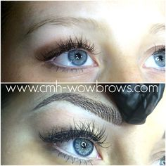 Microstroke Microblading feathering feather touch brows Eyebrow tattooing hair stroke 3D brows