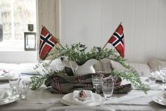 17. mai Interior Blogs, Made In Heaven, Time To Celebrate, Norway, Christmas Wreaths, Table Settings, Shabby, Design Inspiration, Table Decorations