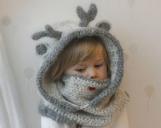 CROCHET PATTERN fox hooded cowl Reed with inner cowl von MukiCrafts