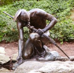 Menotomy Indian Hunter by Cyrus E. Dallin, Arlington, MA. I have a tattoo of this statue.