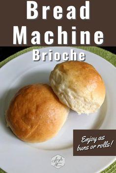Brioche Recipe Bread Machine, Bread Machine Rolls, Bread Bun, Easy Bread, Brioche Rolls, Bread Maker Recipes, Bun Recipe, Bread Bowls, Favorite Recipes