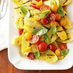 Grilled Summer Squash Caprese From Better Homes and Gardens, ideas and improvement projects for your home and garden plus recipes and entertaining ideas.
