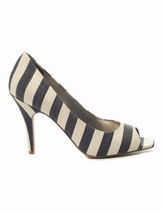 Canvas Peeptoe Pumps @The Limited