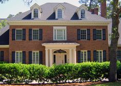 Traditional style brick home - Custom House Designs by Lang Smith Columbia SC