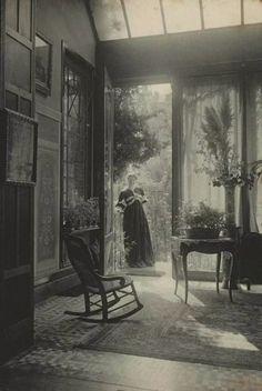 A Look Inside Victorian Homes in the Marcel Vanderkindere's image of a summer lounge in Belgium in 1895