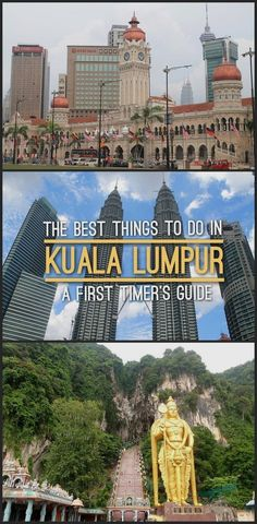 The best things to do in Kuala Lumpur, Malaysia, including Batu Caves and a walk through Chinatown. Travel in Asia. Malaysia Travel, Asia Travel, Vacation Places, Vacation Destinations, Vacations, Inevitable, Brunei, Kuala Lumpur, Travel Guides