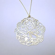 Garden Pop Out Pendant Silver  By Melissa Borrell - diy wearable art :D awesome $23