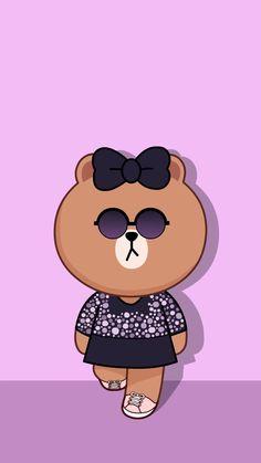 Lines Wallpaper, Bear Wallpaper, Cellphone Wallpaper, Iphone Wallpaper, Line Cony, Cute Cartoon, Bear Cartoon, Friends Wallpaper, We Bare Bears