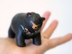 Big floral bear totem 003 by HandyMaiden on Etsy, $80.00