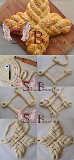 Easter bread (video) Sugar & Breads in Russia Bread Recipes, Cooking Recipes, Pan Relleno, Sugar Bread, Bread Shaping, Bread Art, Braided Bread, Easter Cross, Bread And Pastries