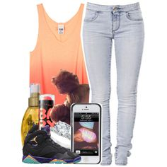 It's Hot Bruh. Waterfront Bout To Be My Best Friend by babygirlslayy on Polyvore featuring polyvore, fashion, style, Organix, Maybelline and 7 For All Mankind