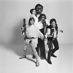 Going clockwise: Publicity shot of Luke & Leia, Chewie and Han. Star Wars Episode IV: A New Hope Han Star Wars, Film Star Wars, Star Wars Cast, Star Trek, Mark Hamill, Harrison Ford, Carrie Fisher, Luke Skywalker, Stanley Kubrick