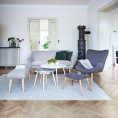 Uutta syksyyn #olohuone #sohva #nojatuoli #penkki