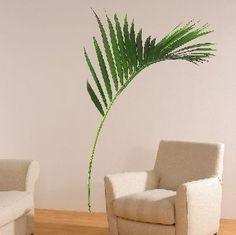 Fern sticker (160305) - Creative Wall Art Stickers - Large fresh green fern leaf. Pack size 85cm x 190cm