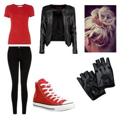 """""""Margo4"""" by nerd-alert250 on Polyvore featuring HUGO, Current/Elliott, Converse and Boohoo"""