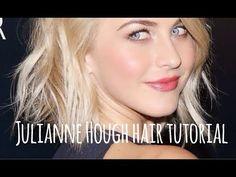 Julianne Hough Short Hair Tutorial - YouTube