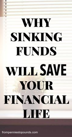 Sinking funds can save your financial life. They can assure that you save your money properly, wisely, and are prepared for anything that pops up. You will be able to achieve all of your financial goals if you have sinking funds. Not sure what they are or how to do it? Read more here: https://www.frompenniestopounds.com/sinking-funds/