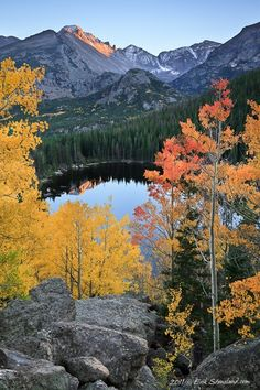 Fall Bear Lake, Rocky Mountain National Park - Click image to find more travel Pinterest pins