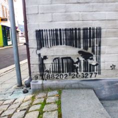 """Argus Stencil in Bergen (skostredet) """"marking the barcode"""""""