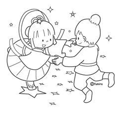 七夕 イラスト 女の子
