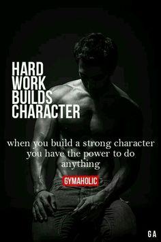 Hard work builds character Way of Working Motivation Mindwalker fitness motivation, Sport Motivation, Fitness Motivation Quotes, Health Motivation, Funny Gym Motivation, Bodybuilding Motivation Quotes, Motivation Inspiration, Fitness Inspiration, Style Inspiration, Frases Fitness