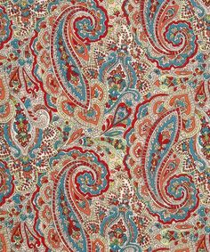 Tessa Liberty Print fabric is a classic Liberty paisley with very fine detailed line work.